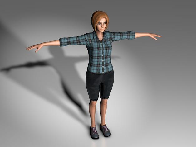 Mixamo Fuse女孩模型 3D打印模型渲染图