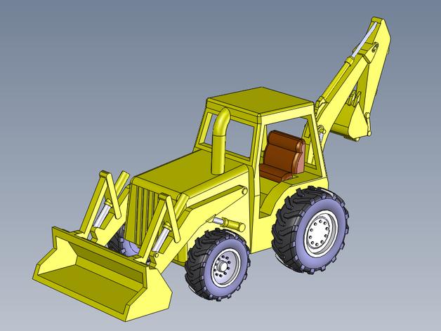 装载机 装载车  3D打印模型渲染图