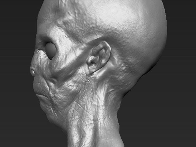 外星人头部模型
