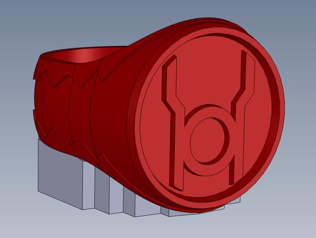 红灯指环 3D打印模型渲染图
