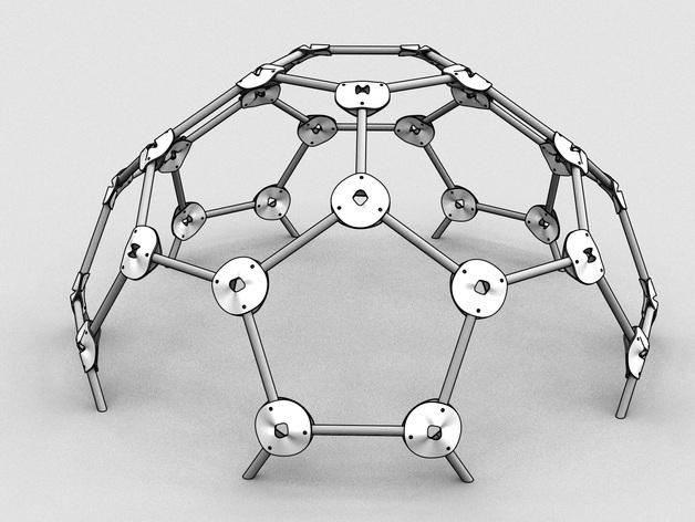 网格球形建筑屋顶 3D打印模型渲染图