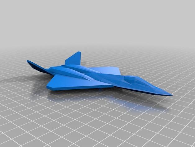 YF23黑寡妇战斗机 3D打印模型渲染图