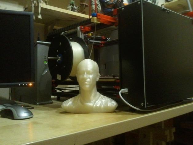 写实人物半身像 3D打印模型渲染图