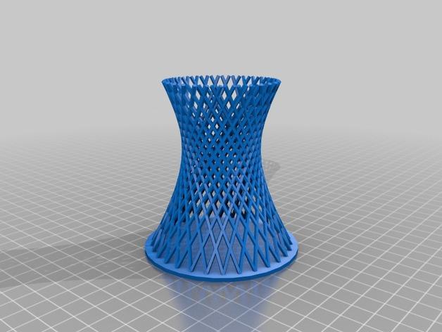 双曲线塔 笔筒 3D打印模型渲染图