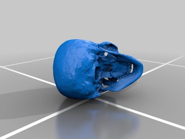 头骨  3D打印模型渲染图