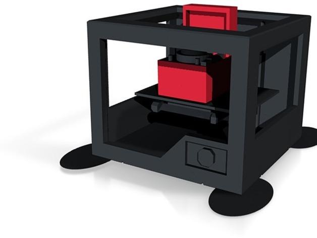 唱片机 3D打印模型渲染图
