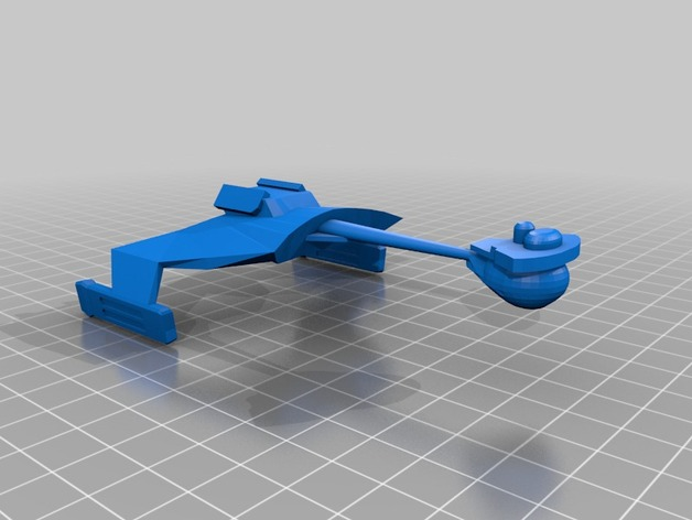 Klingon D7星际巡洋舰 3D打印模型渲染图