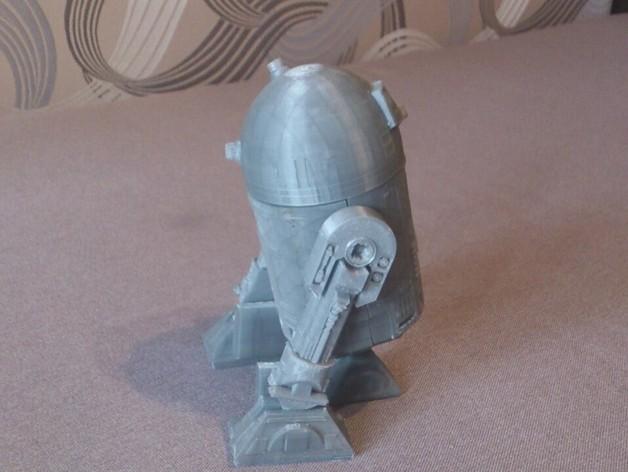 R2D2机器人 3D打印模型渲染图