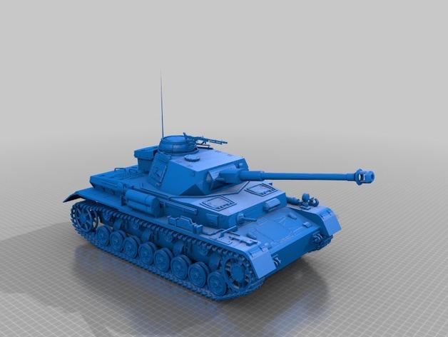 坦克 3D打印模型渲染图