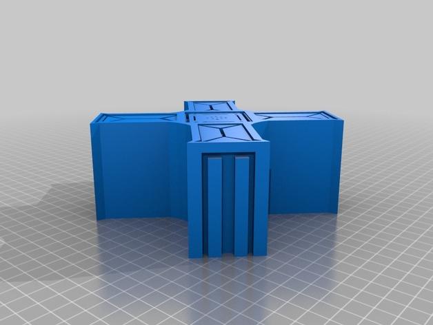 建筑墙壁模型