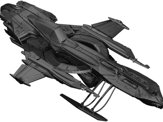 星际公民 复仇者轰炸机 3D打印模型渲染图