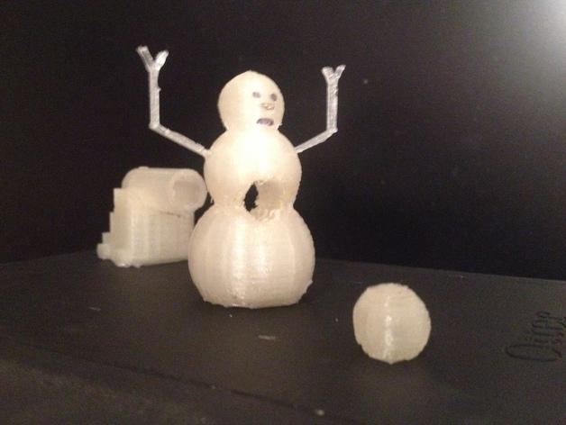 加农炮 雪人 3D打印模型渲染图