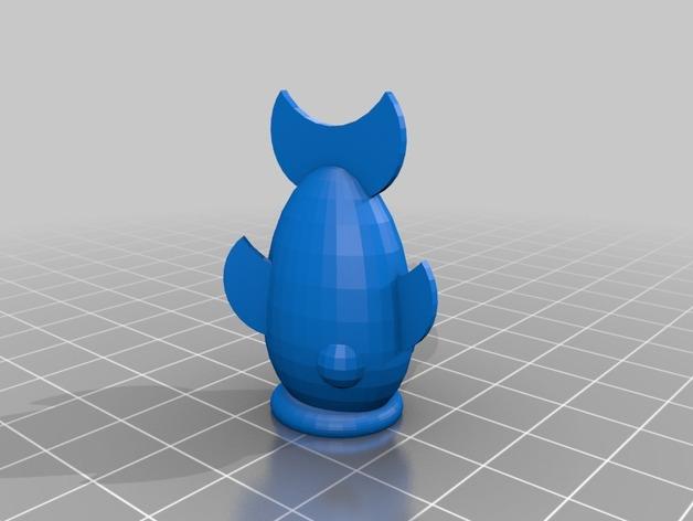 鱼形铅笔套 3D打印模型渲染图