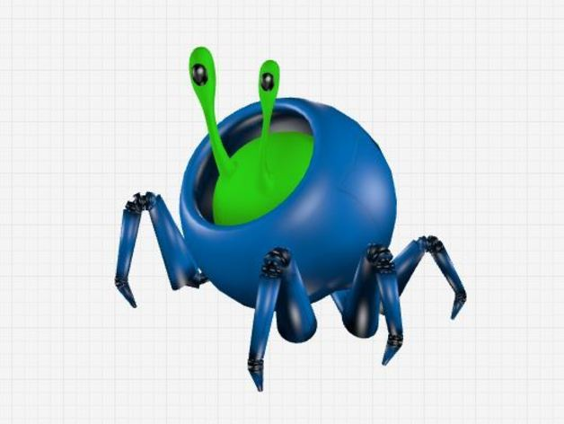 蜗牛爬行机 3D打印模型渲染图