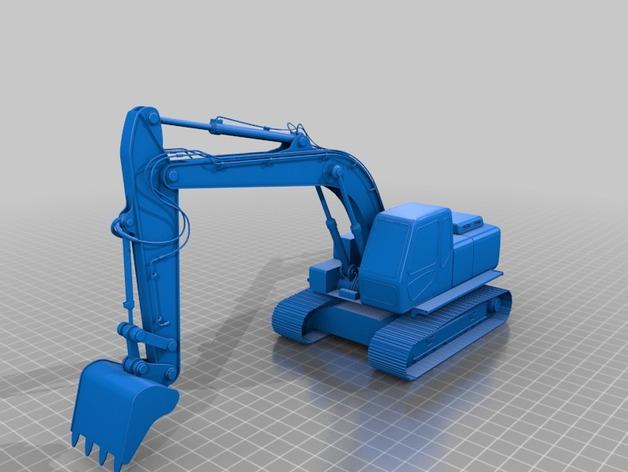 铲斗机 挖机 3D打印模型渲染图