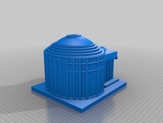 万神殿 3D打印模型渲染图