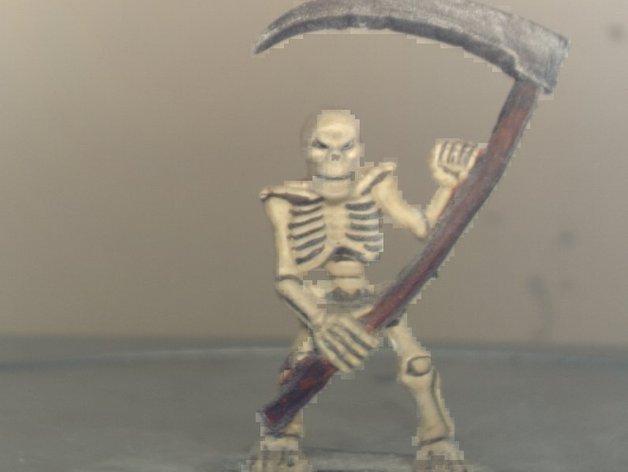 拿镰刀的骷髅人 3D打印模型渲染图