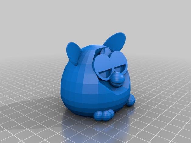 菲比精灵 玩偶 3D打印模型渲染图