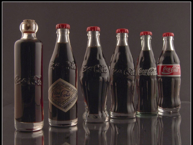 可乐瓶 3D打印模型渲染图