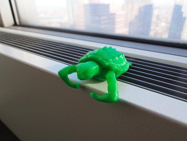 健壮的海龟 3D打印模型渲染图