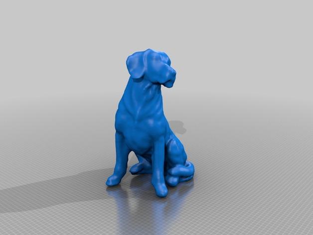 小黄狗 3D打印模型渲染图