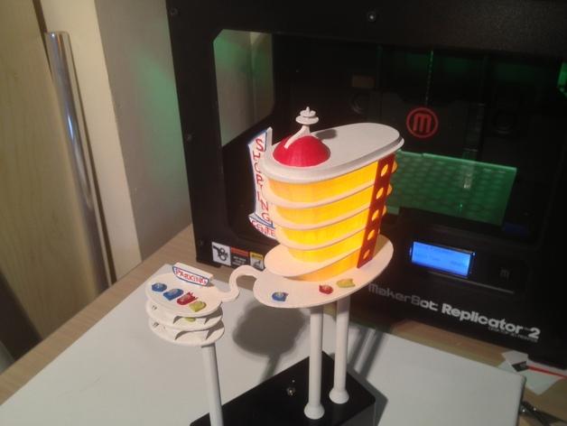 购物中心灯罩 3D打印模型渲染图