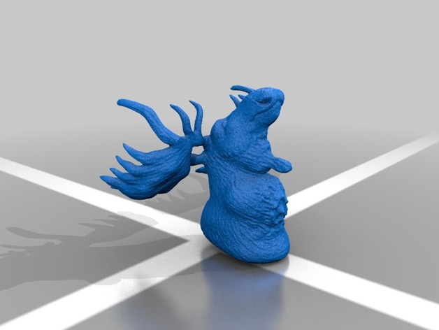 公麋鹿半身模型 3D打印模型渲染图