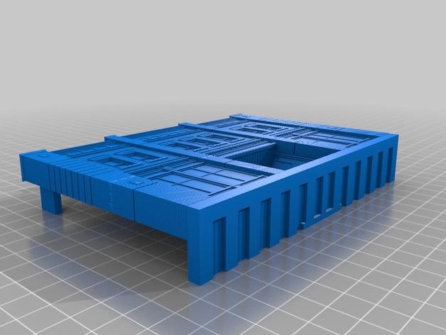 贸易大厦模型 3D打印模型渲染图