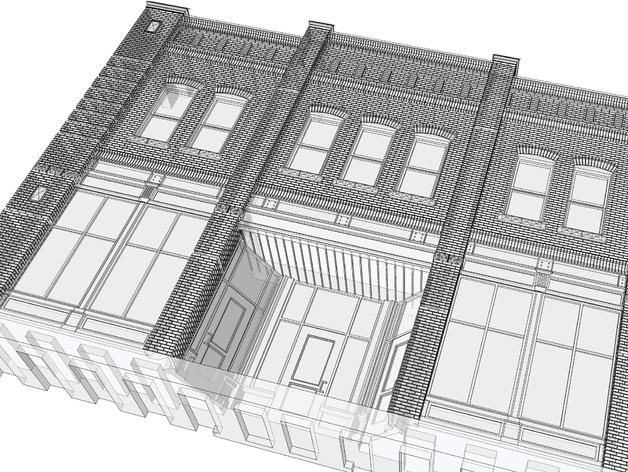 贸易大厦模型