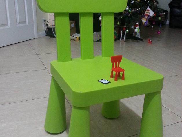 宜家儿童椅 3D打印模型渲染图