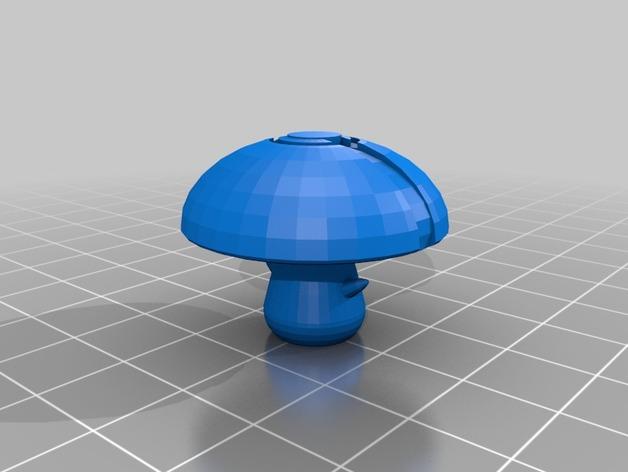 蘑菇孢子 口袋妖怪 3D打印模型渲染图