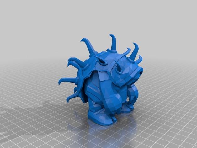 披甲龙龟拉莫斯  3D打印模型渲染图