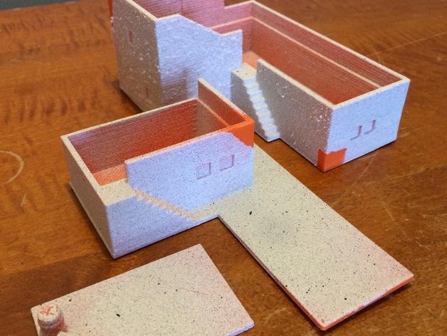 沙漠之家 建筑模型