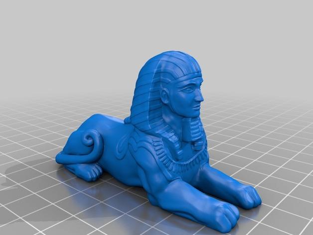 斯芬克斯 狮身人面像 3D打印模型渲染图