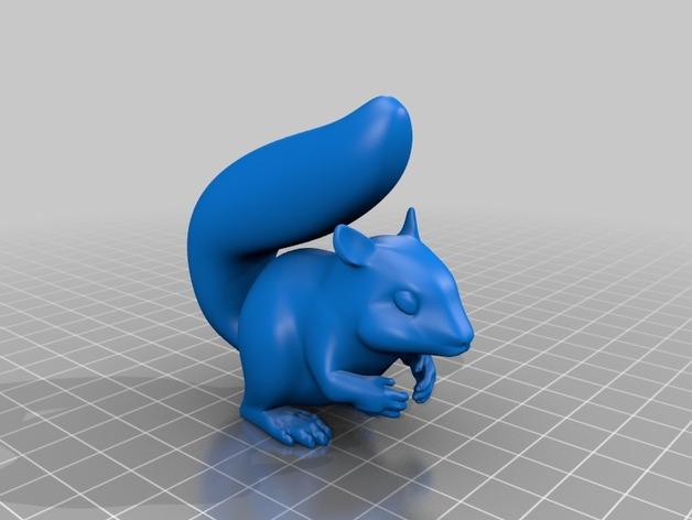 松鼠 3D打印模型渲染图