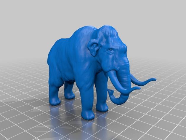 长毛象 3D打印模型渲染图