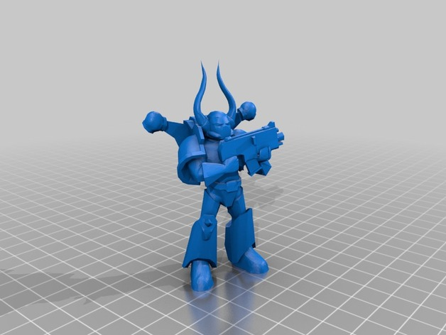 Dark Marine星际战士 3D打印模型渲染图