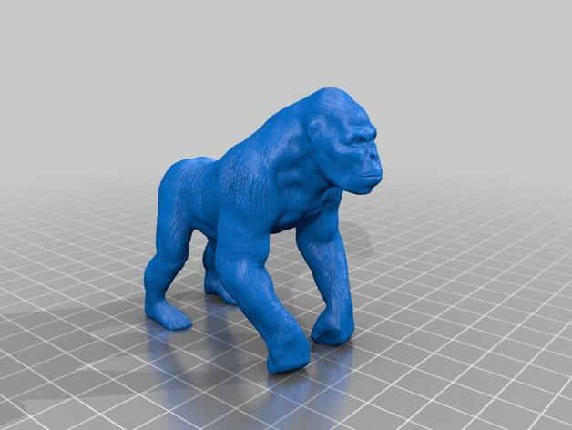 大猩猩 3D打印模型渲染图