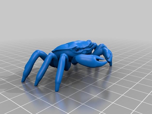 螃蟹 3D打印模型渲染图