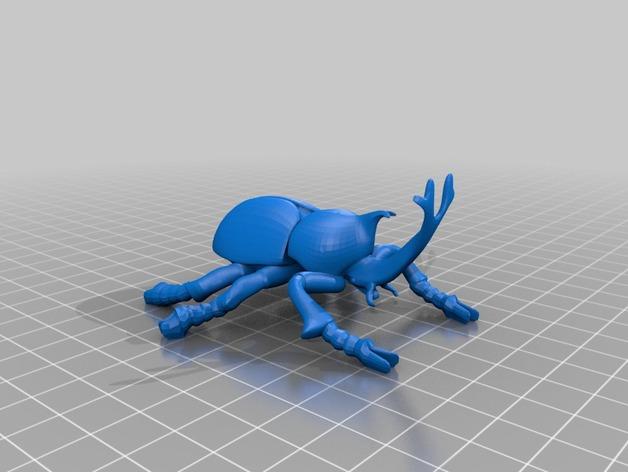 甲虫 3D打印模型渲染图