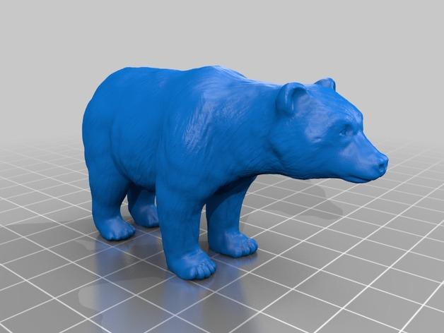 熊 3D打印模型渲染图