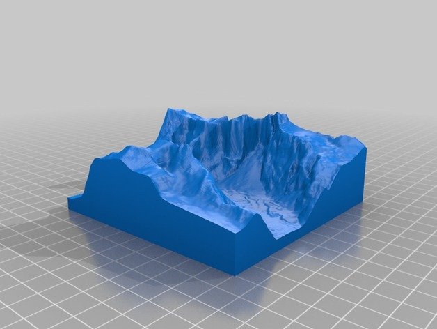 Troll Wall巨魔峰 3D打印模型渲染图