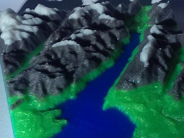 意大利加尔达湖3D地图