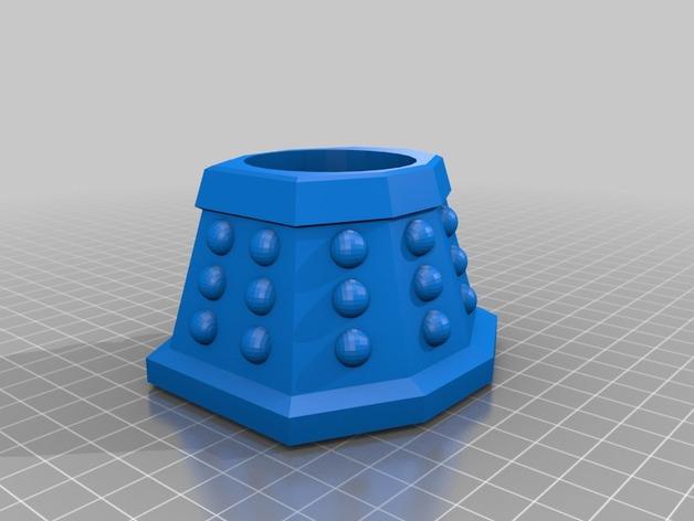 戴立克机器人杯子 3D打印模型渲染图