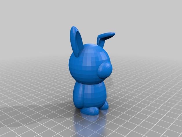 兔子 3D打印模型渲染图