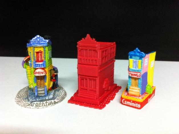 Esquina Caminito 建筑模型 3D打印模型渲染图