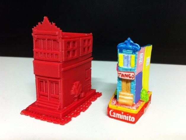 Esquina Caminito 建筑模型