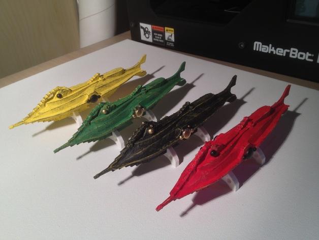 鹦鹉螺潜艇 3D打印模型渲染图