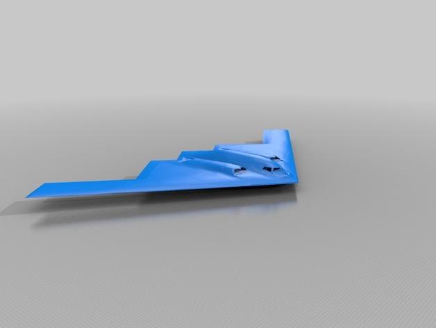 Northrop Grumman B-2 Spirit轰炸机 3D打印模型渲染图
