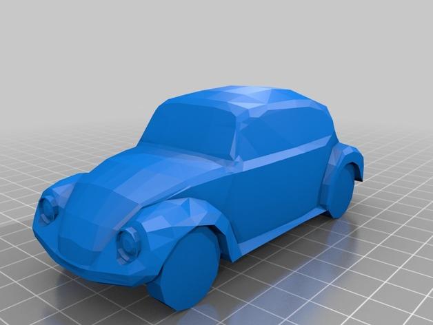 大众甲壳虫汽车 3D打印模型渲染图